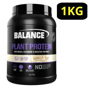 Balance Plant Protein Powder 1KG - Vanilla w/ BCAAs Glutamine P21.7g* Vegan