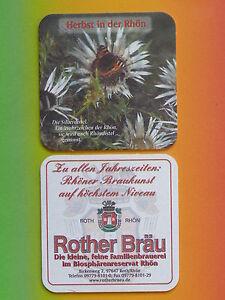 Rother-Braeu-Roth-Rhoen-Bierdeckel-034-Silberdistel-034-NEU