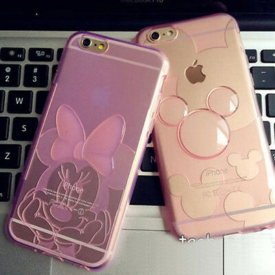 New Minnie Cartoon Transparent Soft TPU Cover Case For Apple iPhone 5S 6 6S