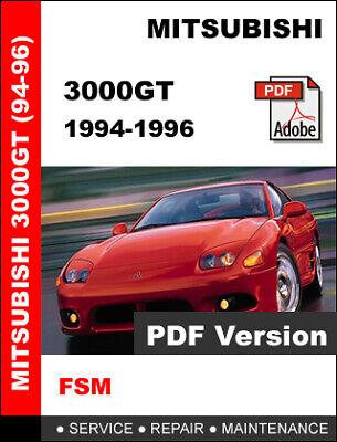 MITSUBISHI 3000GT 1990-1993 FACTORY OEM SERVICE REPAIR WORKSHOP FSM MANUAL