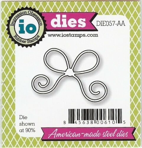 suitable for most die cutters 057aa Small bow DIE-Impression Obsession