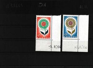 Monaco-782-783-kompl-Ausg-postfrisch-Eckrandstuecke-mit-Druckdatum