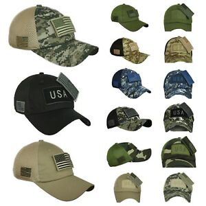USA American US Flag Baseball Cap Patch Trucker Tactical hunting ... a77f85c70283
