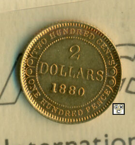 ICCS-Newfoundland-1880-2-Gold-Coin-AU-50-Cleaned-Cert-No-XKW-206