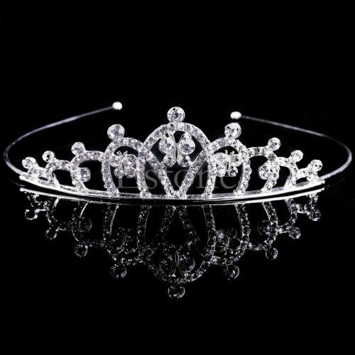 Wedding Rhinestone Bridal Crystal Hair Headband Crown Comb Tiara Prom Pageant