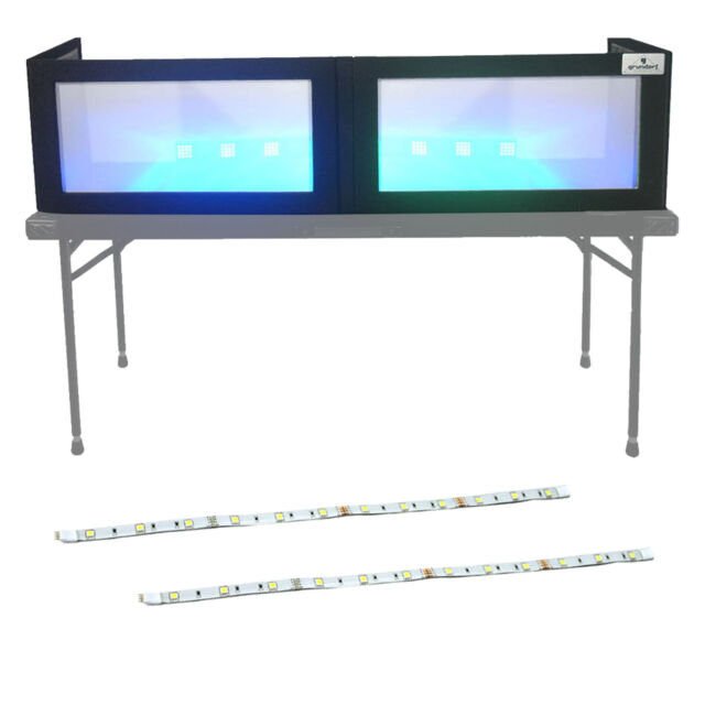 "Grundorf LS1652T 52"" Table-Top DJ Frontboard Facade + XStatic LED RGB Strip Pair"