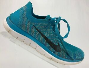 check out 82793 2ad7d Image is loading Nike-Flyknit-Free-4-0-Running-Shoes-Blue-