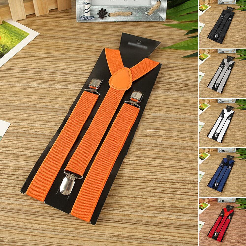 Mens Womens Heavy Duty Suspenders Adjustable Clip On Work Braces 2.5cm Wide