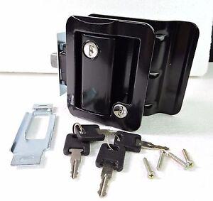 Black rv paddle entry door lock latch handle knob deadbolt - Exterior door handles and deadbolts ...