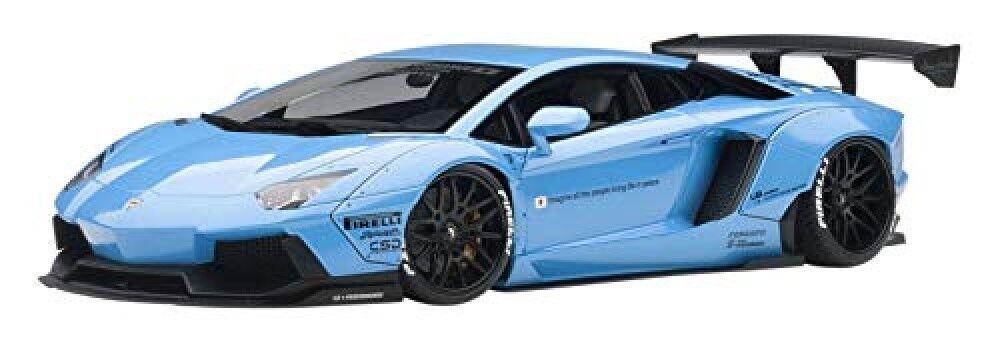 bilkonst 79107 1  18 Liberty promänad LB -arbetar Lamborghini Aventador blå Sky Metallic
