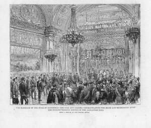 1874-Antique-Print-ROYAL-WEDDING-DUKE-EDINBURGH-RUSSIAN-TZAR-TSARINA-068