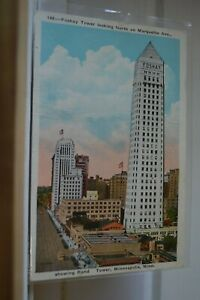 C-1935-Foshay-Tower-Looking-N-On-Marqwuette-Ave-Minneapolis-Minnesota-Postcard