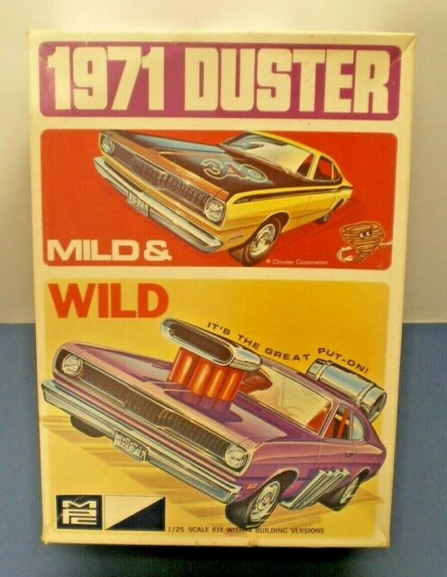 MPC 1971 Plymouth Duster 340  model Kit -1-7126 225  Nicely built up with box