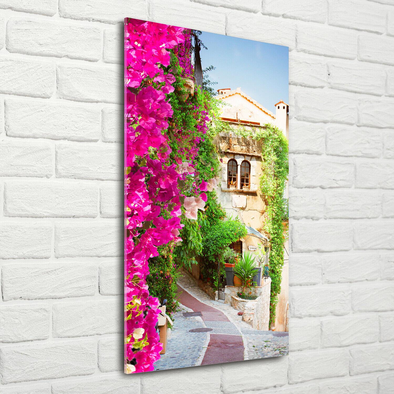 Wand-Bild Kunstdruck aus Acryl-Glas Hochformat 70x140 Provence Frankreich