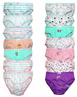 Girls 7 Pack Knickers Briefs Pants 100% Cotton Size 2/3, 3/4, 5/6, 7/8 BNWT