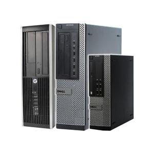DELL HP PC DESKTOP QUAD THREAD i3 16GB RAM WINDOWS 10 WIFI 240GB SSD + 500GB HDD