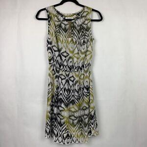 Souvenir-Clubbing-Dress-Sleeveless-Open-Back-Womens-Size-Small-Green