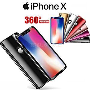 COVER-per-Iphone-X-Fronte-Retro-360-PROTEZIONE-Totale-ORIGINALE-Vetro-Temperato
