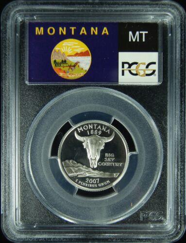 2007-S PCGS PR69DCAM Montana SILVER Statehood Quarter