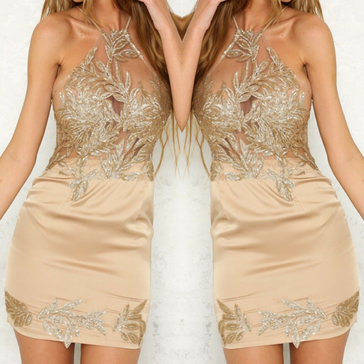 SOLD OUT  Hello Molly Winter Gold Palace Dress (RRP )