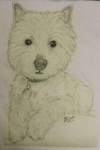 Westie-West-Highland-Terrier-T-Shirt-Original-drawn-design-sizes-3-6-mth-to-XXL