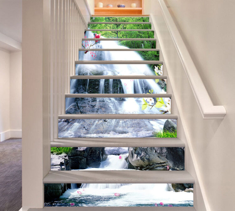 3D Stone water 209 Stair Risers Decoration Photo Mural Vinyl Decal WandPapier US
