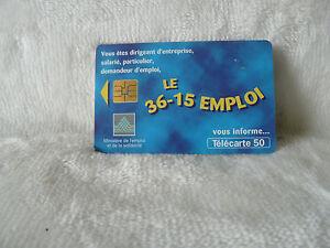 Telecarte-Carte-Telephonique-France-50U-36-15-Emploi-244