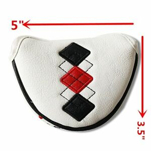 Red-Black-New-Halfmallet-Mid-Mallet-Putter-Cover-Golf-Headcover-5-034-x-3-5-034-Magnet