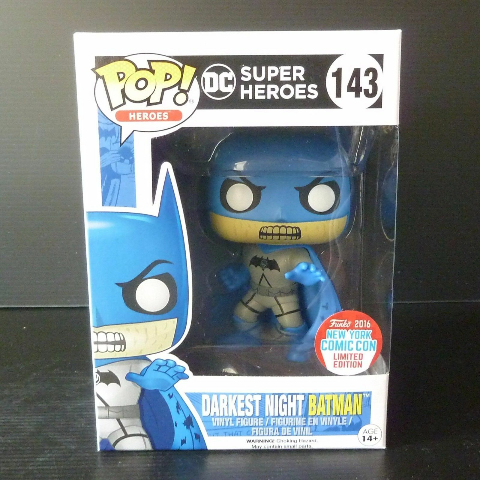 Funko POP DC figure Heroes Darkest Night Batman NYCC Exclusive MINT BOX + case