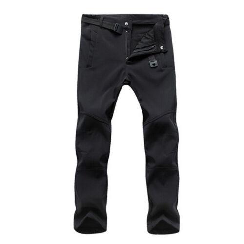 Men/'s Waterproof Hiking Pants Fleece Lined Warm Man Gym Sport Trousers