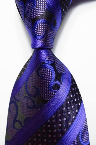 New Classic Paisley Purple Lavender JACQUARD WOVEN 100/% Silk Men/'s Tie Necktie