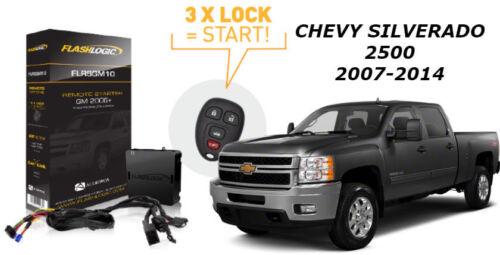 Flashlogic Remote Start for Chevy Silverado 2500 2010 V8 Plug N Play T Harness