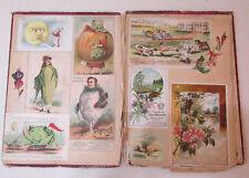 """Antique Victorian Scrapbook Album Advertising trading cards Original Old 11"""""""