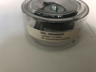 """*new* Dml 16094583501 / 47334 1/4"""" Bore 3/8"""" Concave Radius Cutter Geurig Aroma"""
