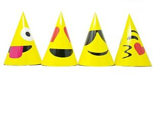 Image Is Loading Emoji Paper Hats Set Birthday Party Wedding Decoration