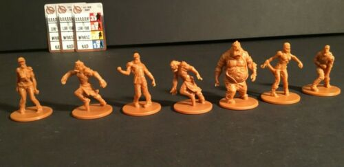 7 Zombicide Attack Pack w//cards CMoN: