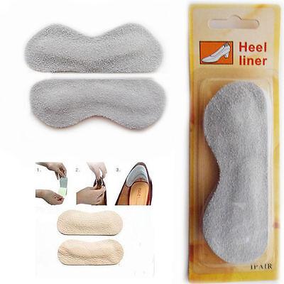 1 X Par de tacón de gamuza suave forro auto-adhesivo Comodidad Forro de Esponja Cuidado de los pies