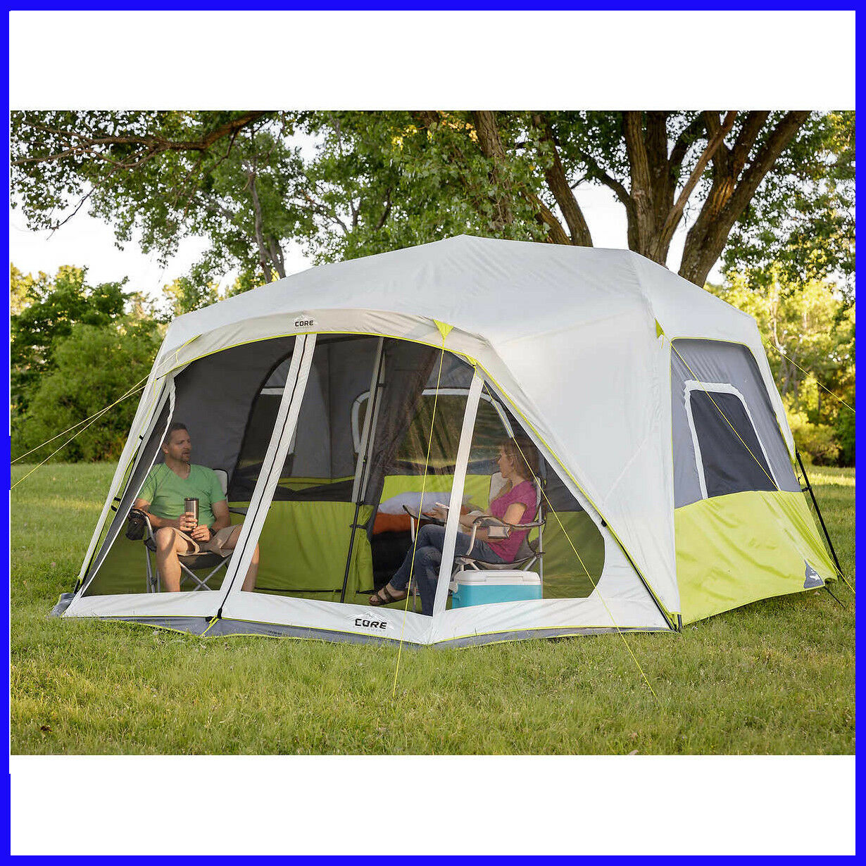 [No Tax] CORE 10-person Instant Cabin Tent  with Screen Room, 2-minute Setup  big sale