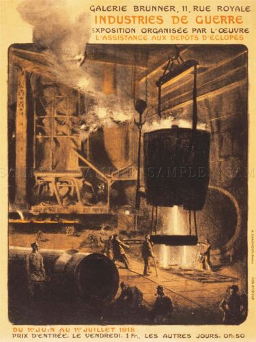 ADVERTISING EXHIBITION INDUSTRY WAR SMELTING IRON WORKS FRANCE POSTER LV814