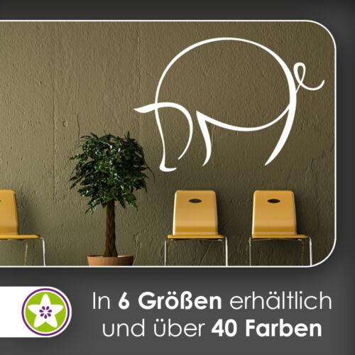 Waf0327-cerdo líneas murales en 6 tamaños-pared Pegatina wall sticker
