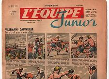 L'équipe Junior n°3 du 14 juin 1951. Villemain Dauthuille, Ray Sugar Robinson,