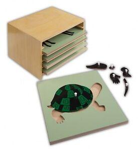Montessori, Puzzle animaux, Ensemble de 5 pièces, Ms41