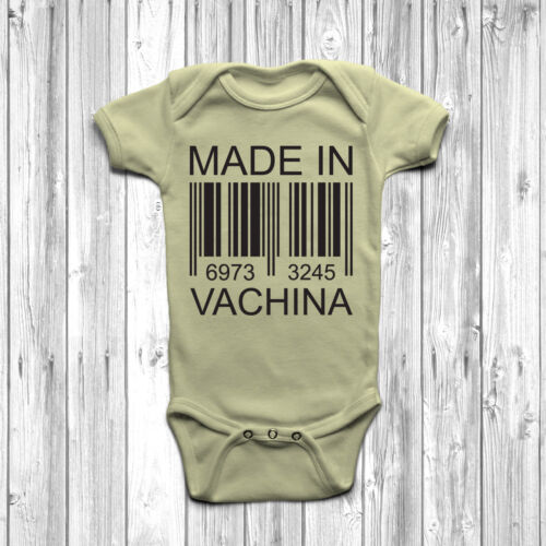 Made in vachina Baby Grow Body Costume Gilet Cadeau Drôle Mignon Humour