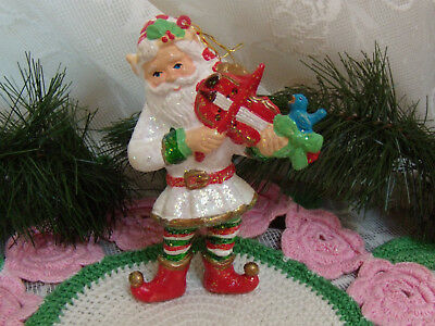 ALDER TOY SOLDIER PLAYING THE VIOLIN CHRISTMAS TREE ORNAMENT KURT S
