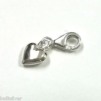 Sterling Silver 925 14mm Cut Out CROSS Clip On Charm Pendant 11mm Lobster Clasp