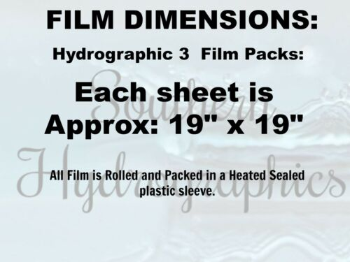 HYDROGRAPHIC WATER TRANSFER HYDRO DIP SAFARI 3 PACK FILM DIP
