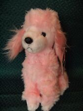 "Russ Berrie "" Fifi""  Pink Poodle Puppy Dog Soft / Plush Toy 8"" approx with tags"