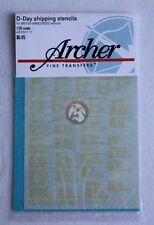 Archer 1/35 British D-Day Shipping Stencils Armoured Vehicles (Yellow) AR35011Y