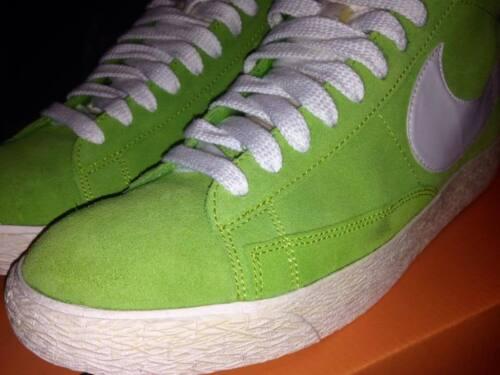 E New 10 Scarpe 44 Acido Nike Blazer Suede Bianco Verde Uomo Taglia High Colore 8AA1qxwpZ