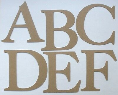 """4"""" ELEGANT FONT -  Large Alphabet Chipboard Letters Die Cuts - 26 Pc"""
